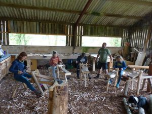 shave horse green woodworking course